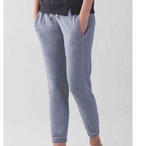 Lululemon serenity blue grayish sweat pants jogger